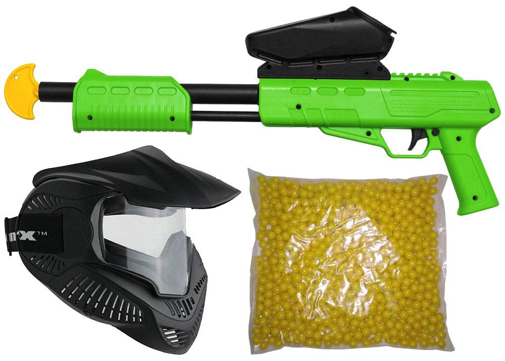 Blaster-Kids-Markierer-Gotcha-Gun-lime-Maske-Paintballs